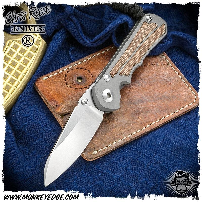 Chris Reeve Knives Folder: Inkosi Small Inlay - Insingo Natural Micarta