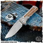 Chris Reeve Knives: Inkosi Large Drop Point Inlay - Natural Canvas Micarta