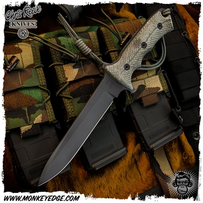 Chris Reeve Knives: Green Beret 7 Inch - Black