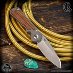 Chris Reeve Knives: Inkosi Small Insingo Inlay Left Handed - Natural Micarta