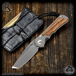 Chris Reeve Knives: Inkosi Small Tanto Inlay - Natural Micarta