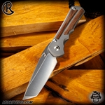 Chris Reeve Knives: Inkosi Large Tanto Inlay - Natural Canvas Micarta