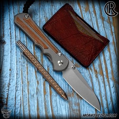 Chris Reeve Knives Folder: Inkosi Large Inlay - Insingo Natural Micarta Left Handed