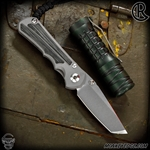 Chris Reeve Knives Folder: Inkosi Small Inlay - Tanto Black Micarta Left handed