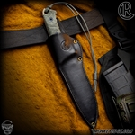 Chris Reeve Knives: The Pacific Sheath LEFT HANDED - Gfeller Casemakers Leather