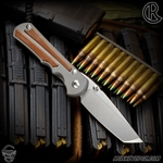 Chris Reeve Knives Folder: Inkosi Large Inlay - Tanto Natural Micarta Left Handed
