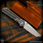 Chris Reeve Knives Folder: Inkosi Large Inlay - Tanto Black Micarta Left Handed