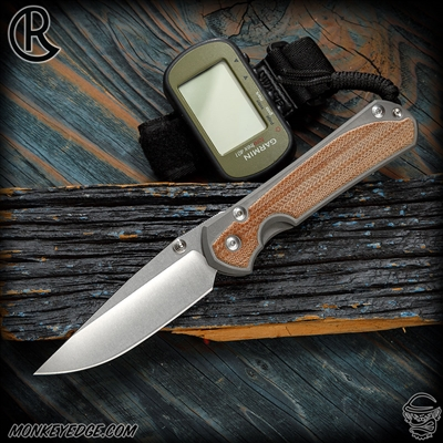 Chris Reeve Knives Folder: Sebenza 31 Large Inlay - Drop Point Natural Micarta