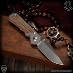 Chris Reeve Knives Folder: Inkosi Small Inlay - Drop Point Natural Micarta Left Handed