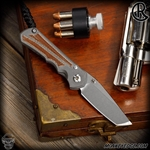 Chris Reeve Knives Folder: Inkosi Small Inlay - Tanto Natural Micarta Left Handed