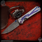 Chris Reeve Knives Folder: Sebenza 31 Large Graphic Unique Boomerang Damascus
