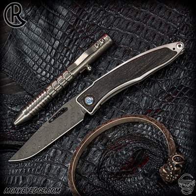 Chris Reeve Knives Folder: Mnandi - Bog Oak/Boomerang Damascus