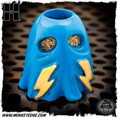 Hiraeth Custom Jewelry Bead: Game Over Series - OG Bronze/Inky Blue