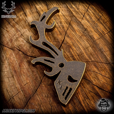 Kingdom Armory Stag Pop Bottle Opener - Brass Patina