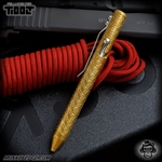 Fellhoelter TiBolt G2 Pen - Brass Tumbled Circles