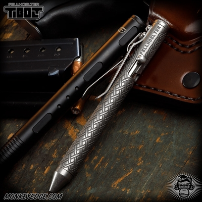Fellhoelter TiBolt G2 Pen - Titanium Tumbled Celtic