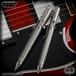 Fellhoelter TiBolt G2 Pen - Titanium Tumbled Straight Fluted