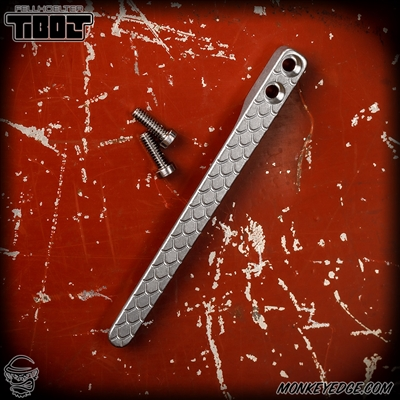 Fellhoelter TiBolt Machined Clip - Titanium Tumbled Baby Dragon