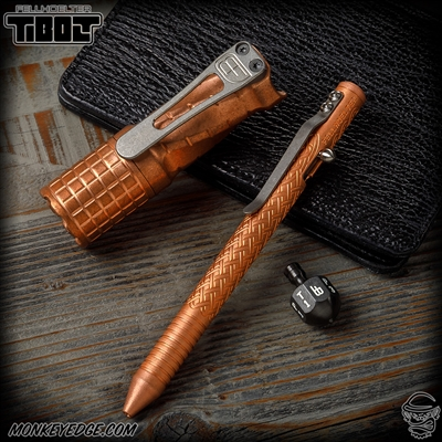 Fellhoelter TiBolt Pen - Copper Tumbled Celtic w/Rings