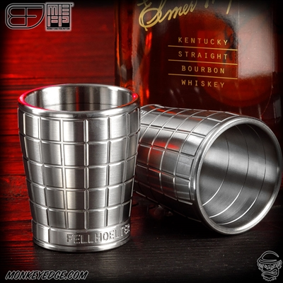 Fellhoelter Titanium Shot Glass - Monkey Edge FRAG Pattern
