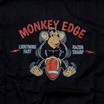 Monkey Edge Shirt: Mens Monkey With a Football - Black