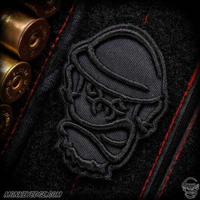 Monkey Edge Patch: Embroidered Maverick Monkey - Blackout