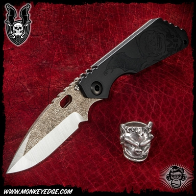 Mick Strider Custom SMF Dagger Grind Up Armored Tip - Dual Winged Skulls/Magma Blade Flats