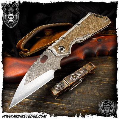 Mick Strider Custom XL Wharncliffe Magma Texture