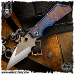 Mick Strider Custom XL Wharncliffe Two Tone Magma Texture