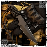 Forrest Strider Knives Fixed: UPNYA Clip Point Double Edge