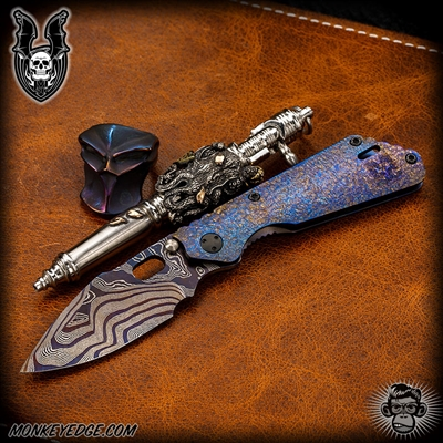 Mick Strider Custom PT Nightmare Grind Damascus