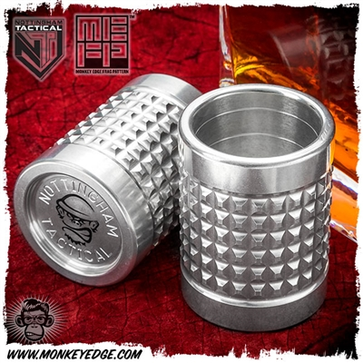 Nottingham Tactical Shot Glass - Aluminum Monkey Edge FRAG Pattern