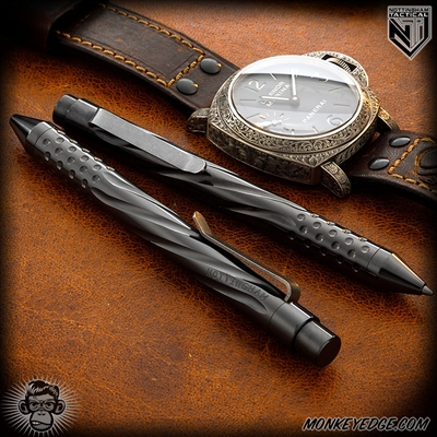 Nottingham Tactical: TiClicker Pen - Zirconium Spiral Fluted w/Dots