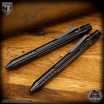 Nottingham Tactical: TiClicker Pen - Zirconium Straight Fluted w/Dots