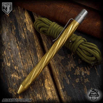 Nottingham Tactical: TiClicker G2 Full Size - Brass Tumbled Spiral Fluted