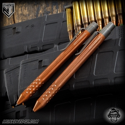 Nottingham Tactical: TiClicker G2 Full Size - Copper Tumbled Straight Fluted w/Dots