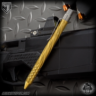 Nottingham Tactical: TiClicker G2 Full Size - Brass Tumbled Spiral Fluted w/Dots