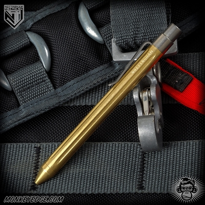 Nottingham Tactical: TiClicker G2 Full Size - Brass Tumbled Straight Fluted