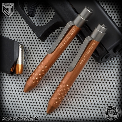 Nottingham Tactical: TiClicker G2 Mini - Copper Tumbled w/Dots