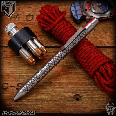 Nottingham Tactical: TiClicker Pen - Nottingham Tactical: TiClicker G2 Full Size - Titanium Anodized Killer Beez