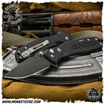 Spartan Blades Folder Pallas Button Lock - Black DLC