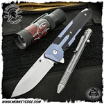 Spartan Blades Folder:  Kranos - Blue Anodized/Black