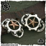 Starlingear Boot Lacers: Gear Logo w/Copper Stars (Set of 2)