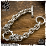 Starlingear Bracelet: Basic Link 2 Monkey w/Gear - Silver