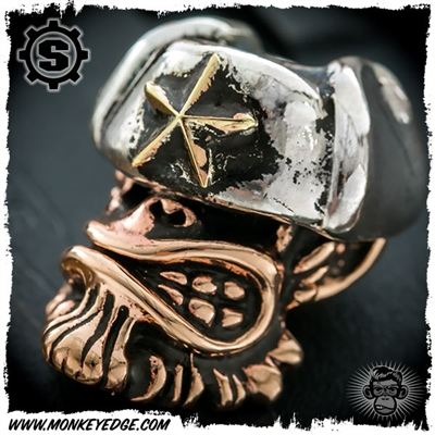 Starlingear Bead: Comrade Monkey - Copper/Silver/Brass