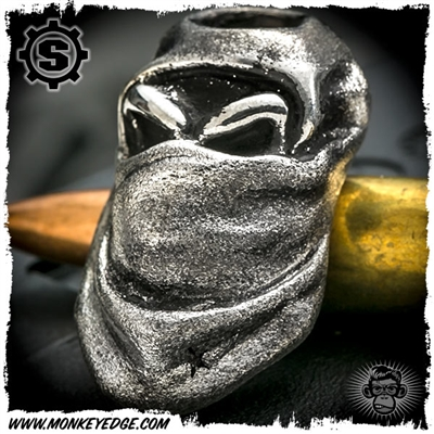 Starlingear Bead: Monkey Scud Hunter - Silver