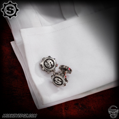 Starlingear Cufflinks: S-Gears (Set of 2) - Silver