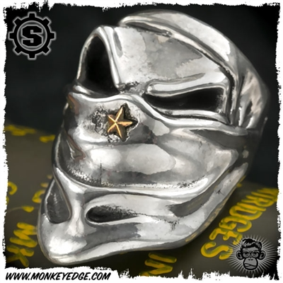 Starlingear Ring: Slickster SCUD Hunter Puncher w/Brass Star - Silver