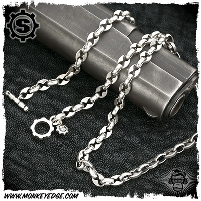 Starlingear Chain: Microline Anchor Link 20 Inch Silver