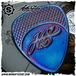 Starlingear McSwain Guitar Pick: Textured Signature - Titanium